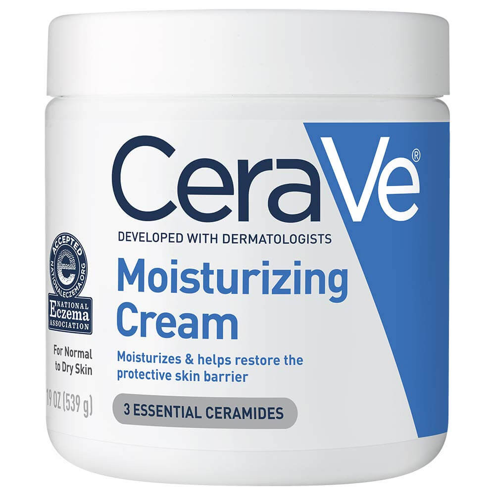 CeraVe Moisturizing Cream | Body and Face Moisturizer for Dry Skin | Body Cream with Hyaluronic Acid and Ceramides